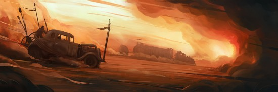 "Jordan Buckner's 'Where we must go, we who wander this wasteland.' 24""x36"" Fine Art Print Edition of 75 $45 ea."