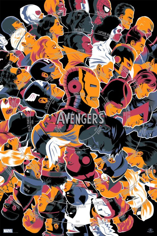 "The Avengers by Matt Taylor 24"" x 36"" Screen Print"