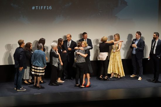 Autoimmune encephalitis survivors with Chloe Grace Moretz and author Susannah Cahalan at the world premiere of Brain on Fire at the Toronto International Film Festival, September 2016
