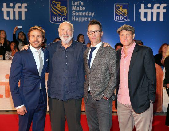 (L-R) Actor Michael Stahl-David, director Rob Reiner, actor Jeffrey Donovan and actor Woody Harrelson