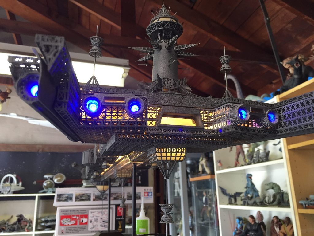 This 3D Printed model of the Cygnus from Disney's The Black Hole is a thing of beauty  Live for