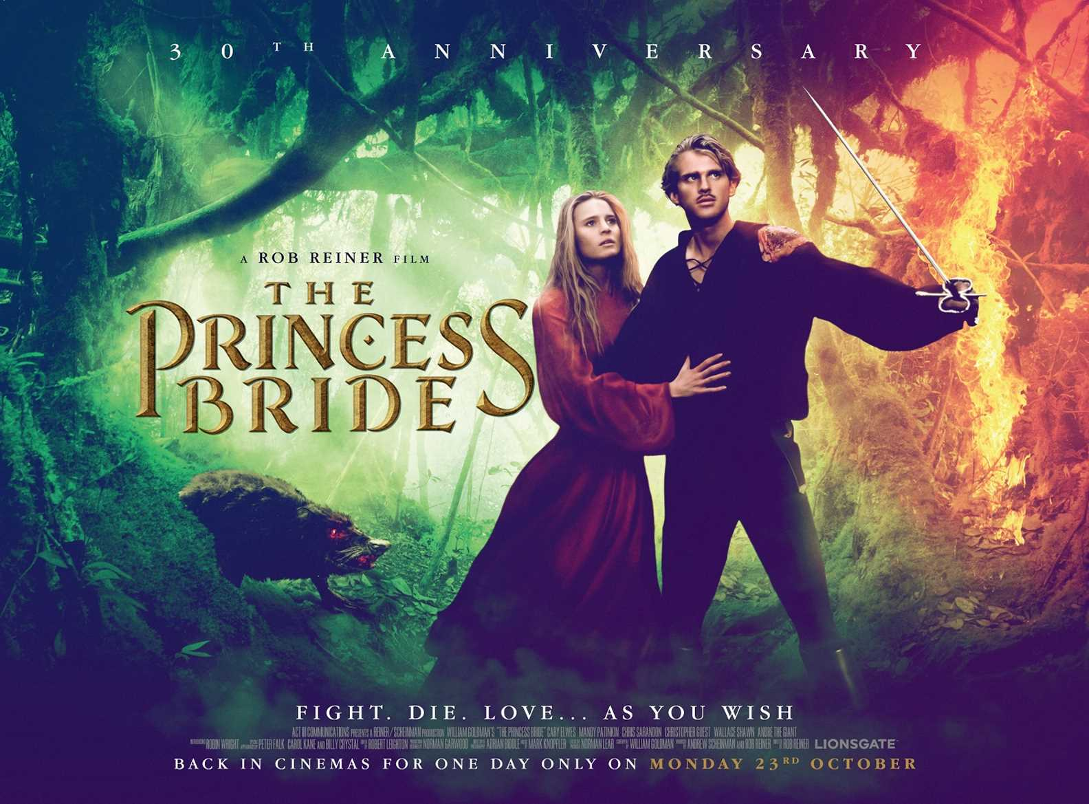 the princess bride movie review For anyone born in the 1980s to be unfamiliar with the princess bride is, well, inconceivable a cult classic, it's perhaps the second most quoted film of all time.