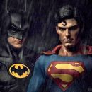 It is Keaton & Reeve in the Batman v Superman: Dawn of Justice mashup trailer