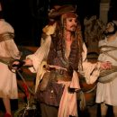 Johnny Depp was Captain Jack at Disneyland's Pirates of the Caribbean ride